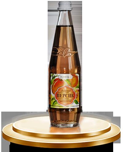 Безалкогольный сильногазированный напиток «ПЕРСИК» с ароматом персика