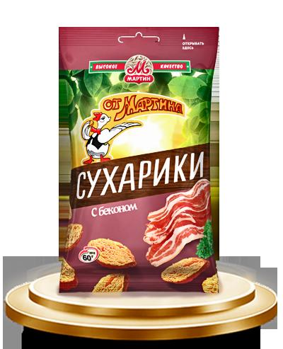 Сухарики со вкусом бекона